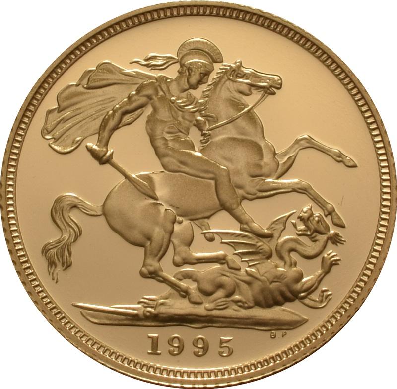 1995 Gold Sovereign - Elizabeth II Third head Proof