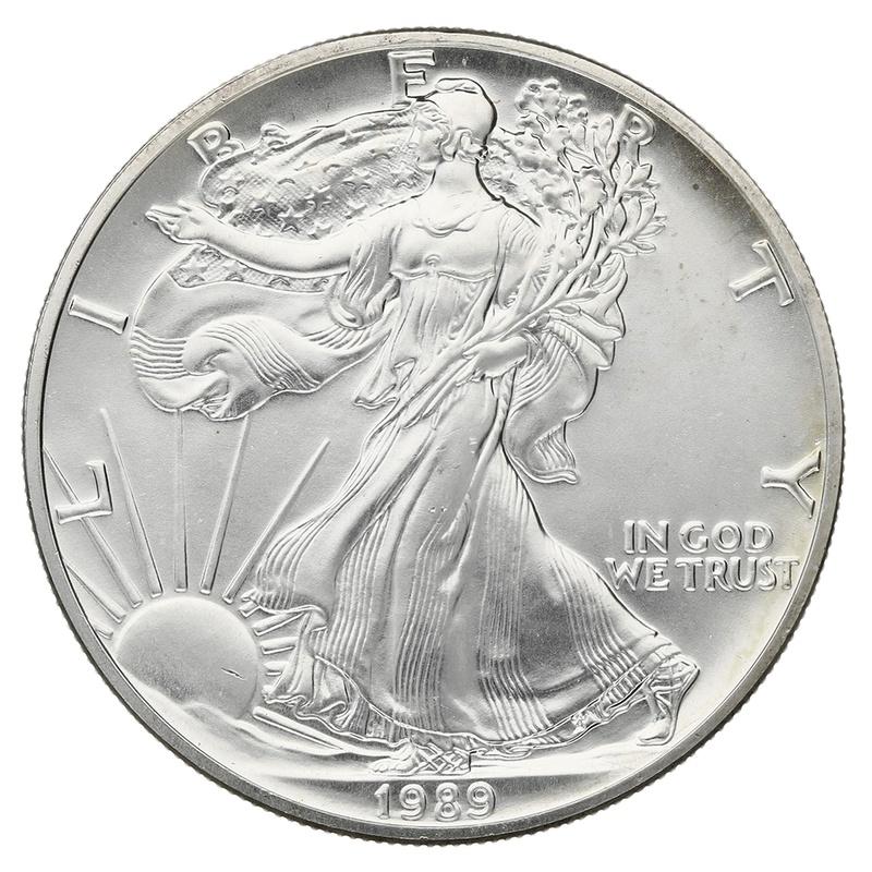 1989 1oz American Eagle Silver Coin