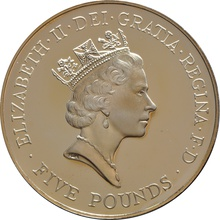 1996 - Gold £5 Proof Crown, 70th Birthday of Queen Elizabeth II Boxed