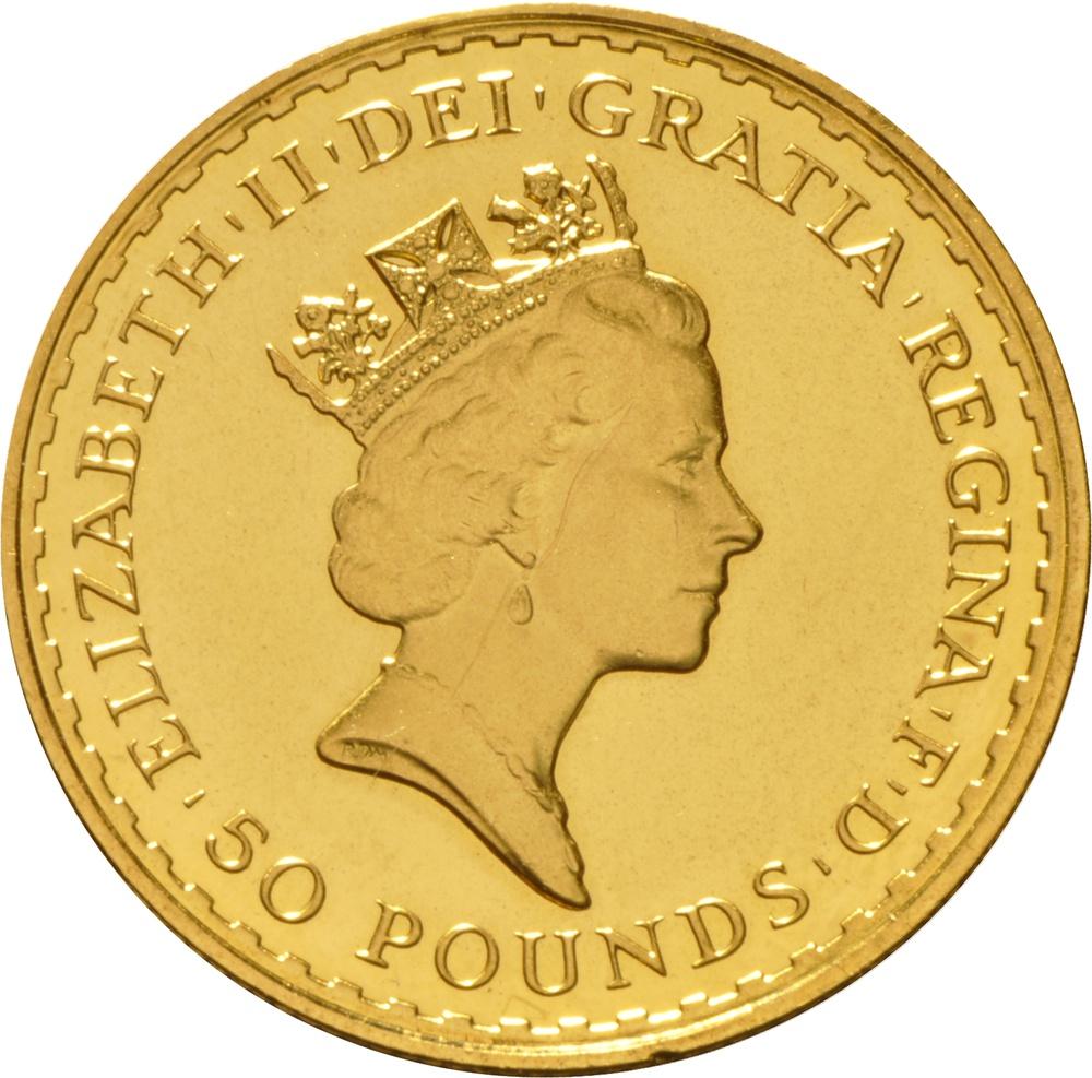 1987 Half Ounce Britannia Gold Coin 163 861 90