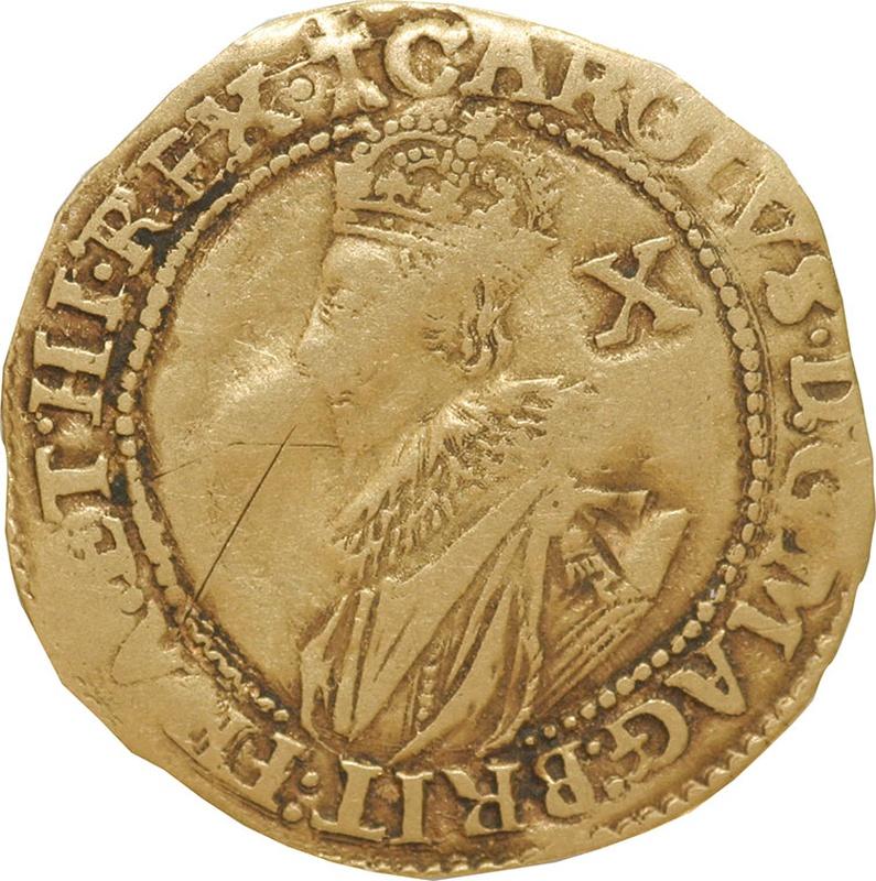 Charles I Half Unite Gold Coin - Near Fine