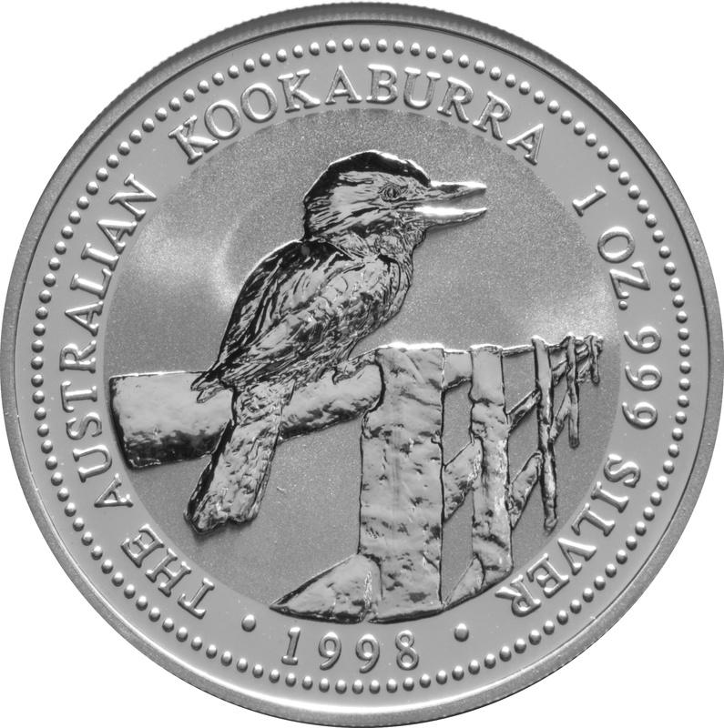 1998 1oz Silver Kookaburra