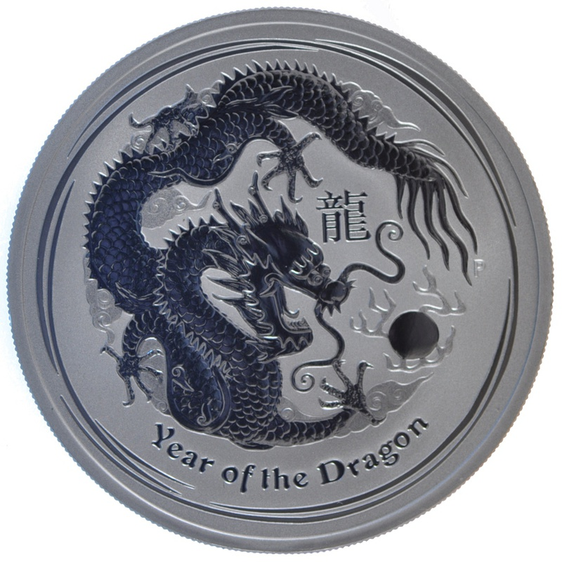 2012 1oz Australian Lunar Year of theDragon Silver Coin