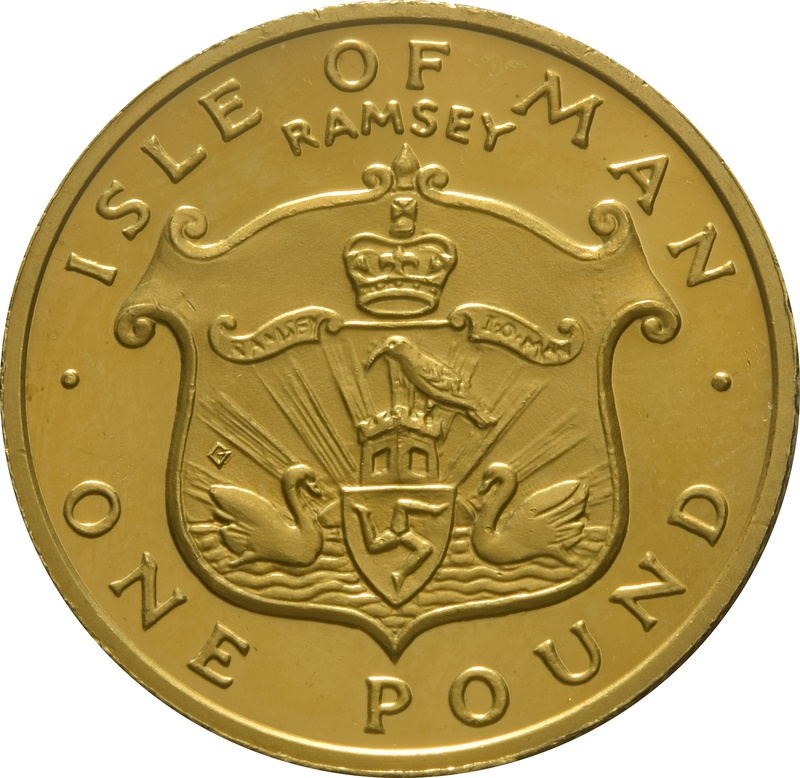 1985 Gold Proof £1 One Pound Manx Town Series - Ramsey