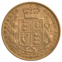 Sovereign - Victoria, Young Head Shield Back