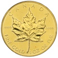 1984 1oz Canadian Maple Gold Coin