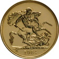1984 Five Pound Gold Coin (Quintuple Sovereign)