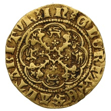 Edward III Gold Quarter Noble - Very Fine