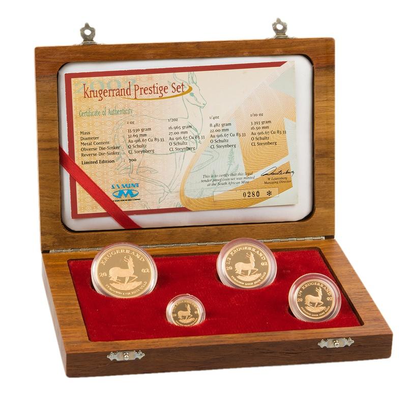 Krugerrand 2002 Prestige 4-Coin Gold proof Set Boxed