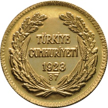 Turkish 500 Piastres Kurush Gold Coin - Kemal Ataturk