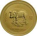 2007 1oz Gold Australian Lunar Year of the Pig
