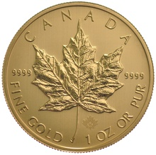 2015 1oz Canadian Maple Gold Coin