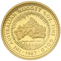 1987 Proof Tenth Ounce Gold Australian Nugget