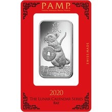 PAMP 1oz 2020 Year of the Rat Silver Bar