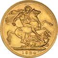 1924 Gold Sovereign - King George V - P NGC AU58