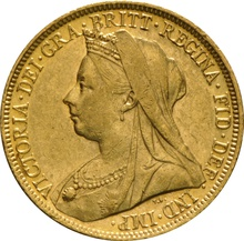 1898 Gold Sovereign - Victoria Old Head - S