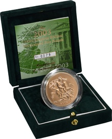2003 - Gold £5 Brilliant Uncirculated Coin Boxed