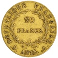 AN13 20 French Francs - Napoleon (I) Bare Head - A