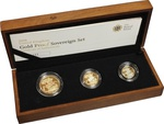 2008 Gold Proof Sovereign Three Coin Set Boxed
