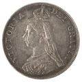 1887 Victoria Double Florin - Very Fine