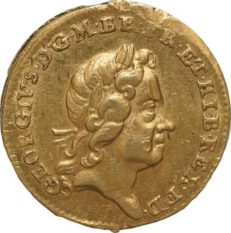 1718 George I Quarter Guinea - Very Fine