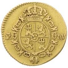 1786 Charles III Spain Gold 1/2 Escudo