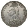 1887 Queen Victoria Silver Halfcrown