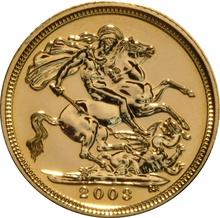 2003 Gold Half Sovereign Elizabeth II Fourth Head
