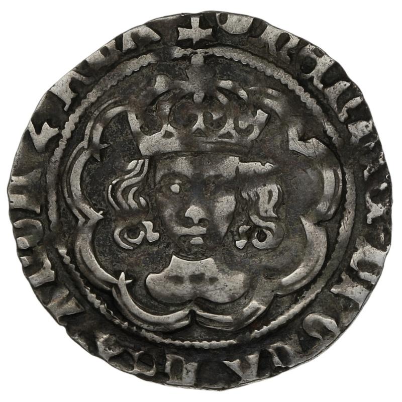 1495-8 Henry VII Hammered Silver Halfgroat mm Tun