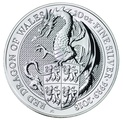 10oz Silver Coin,  Dragon - Queen's Beast 2018
