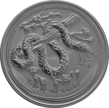 2013 1kg Kilo Australian Lunar Year of the Snake Silver Coin