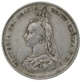 1888 Queen Victoria Silver Milled Shilling - Extremely Fine