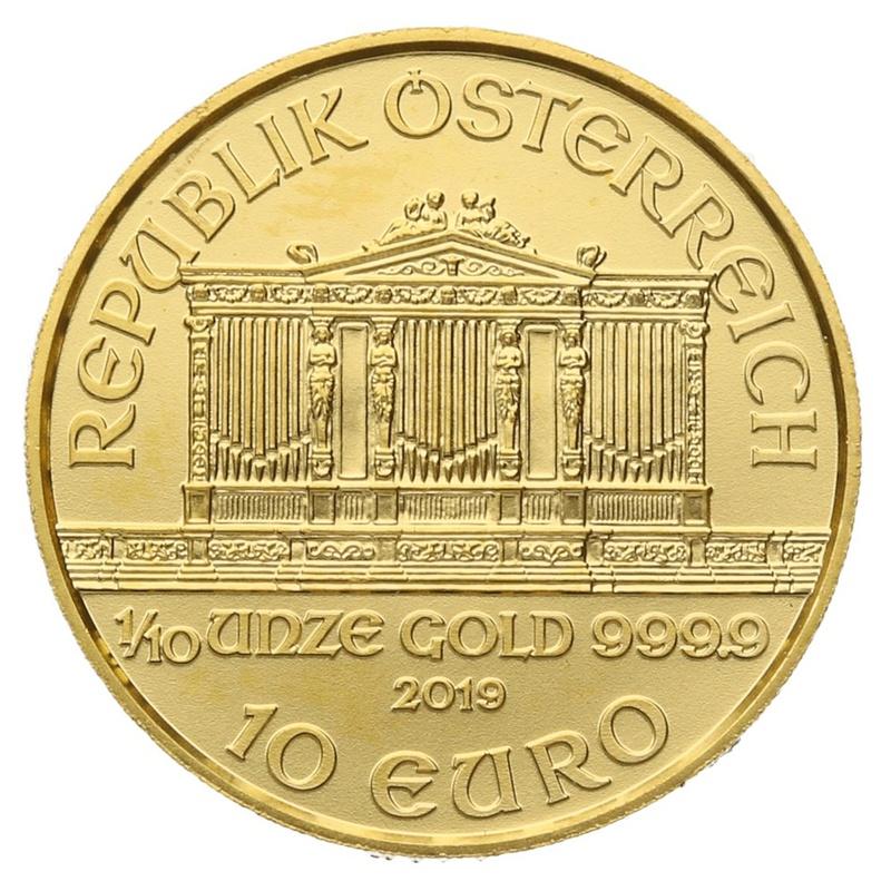 2019 Tenth Ounce Austrian Gold Philharmonic Coin