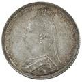 1892 Queen Victoria Silver Shilling