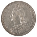 1891 Victoria Jubilee Head Crown - Very Fine