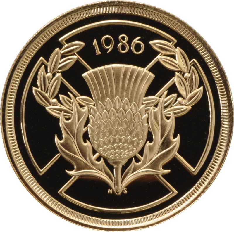 1986 £2 Two Pound Proof Gold Coin (Double Sovereign)