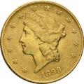 1899 $20 Double Eagle Liberty Head Gold Coin, Philadelphia