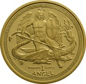 2010 1oz Gold Isle of Man Angel