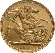 1979 Gold Sovereign - Elizabeth II Decimal Portrait