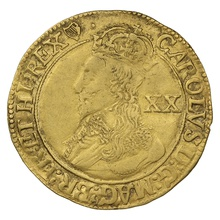 1632 - 1633 Charles I Unite Gold Coin - mm Harp
