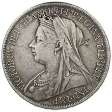 1900 Queen Victoria Silver Crown