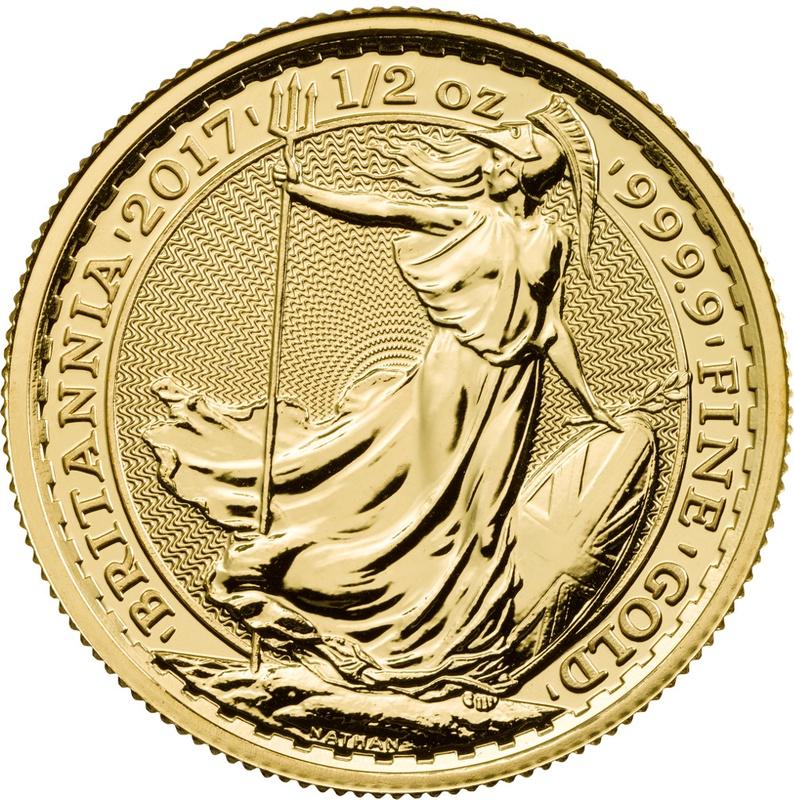 2017 Half Ounce Britannia Gold Coin