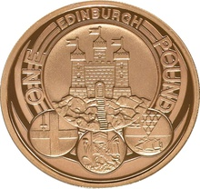 £1 One Pound Proof Gold Coin - Capital Cities -2011 Edinburgh