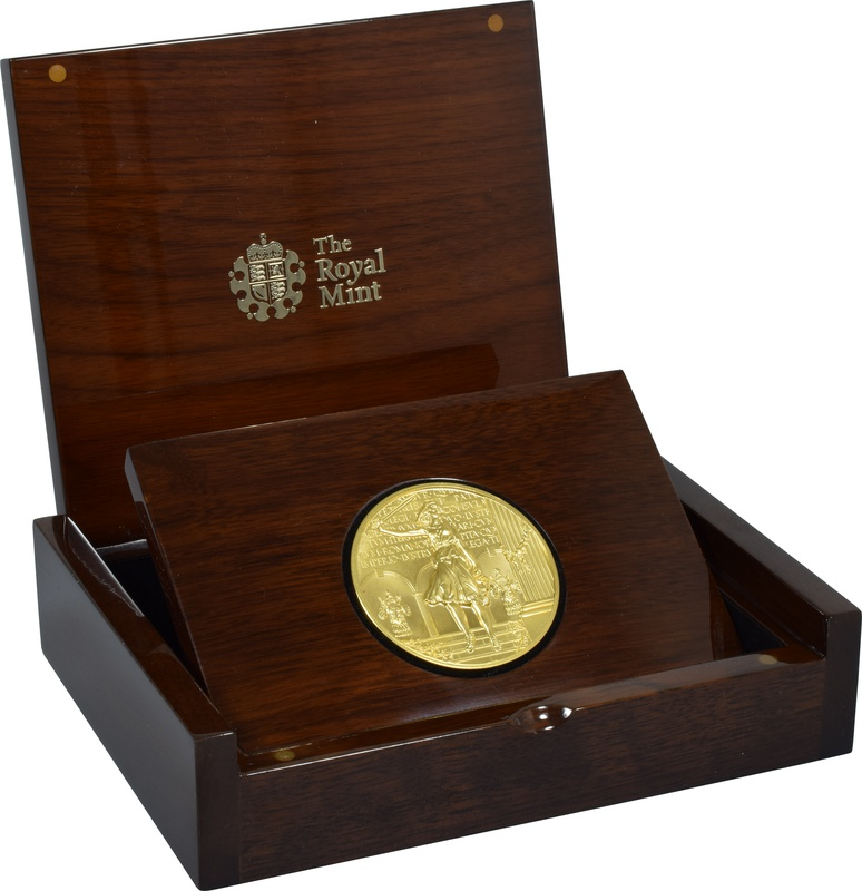 The Royal Mint Britannia Masterpiece 10oz Gold Medal 2011 Boxed