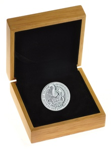 1oz Platinum Coin, The Red Dragon - Queen's Beast Gift Boxed