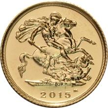2015 Gold Half Sovereign  Elizabeth II Fourth Head