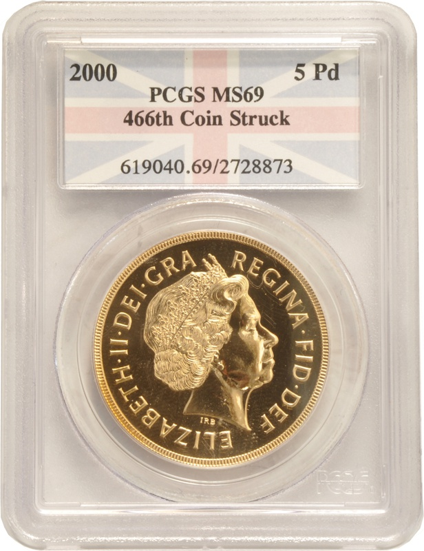 2000 - Gold Five Pound Coin PCGS MS69