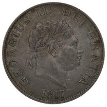 1817 George III  Silver Half Crown - Good Very Fine