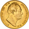 1837 Gold Sovereign - William IV NGC AU50