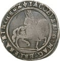 1623-24 James I Silver Halfcrown - Fine